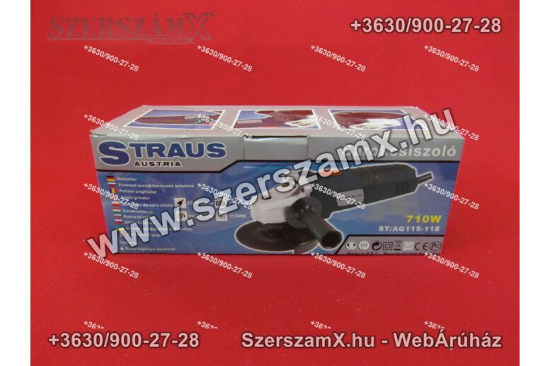 Straus ST/AG115-118 Sarokcsiszoló 115mm 710W