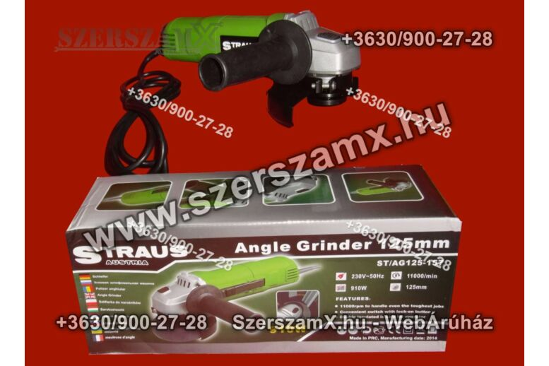 Straus ST/AG125-157 Sarokcsiszoló 125mm 910W