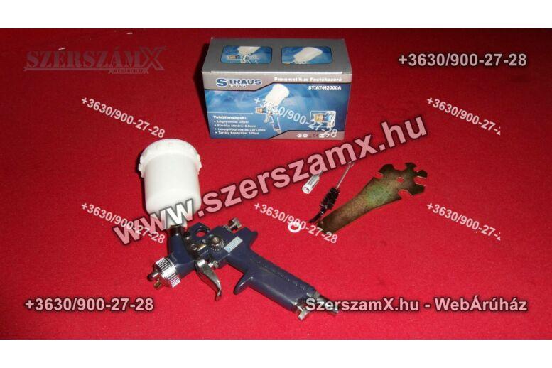 Straus ST/AT-H2000A Pneumatikus Festékszóró 0,8mm 100ml