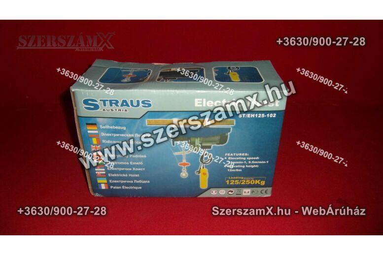 Straus ST/EH125-102 Drótköteles Emelő 125/250kg