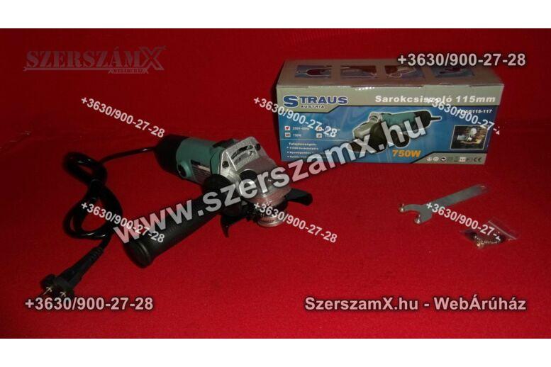 Straus ST/AG115-117 Sarokcsiszoló 115mm 750W